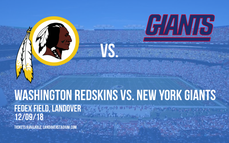 premium selection e4016 e9fc8 Washington Redskins vs. New York Giants Tickets | 9th ...