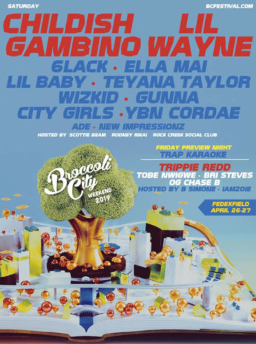 Broccoli City Festival: Childish Gambino, Lil Wayne, 6lack, Ella Mai & Lil Baby - Saturday at FedEx Field
