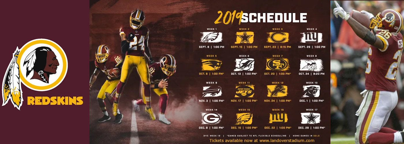 washington redskins schedule
