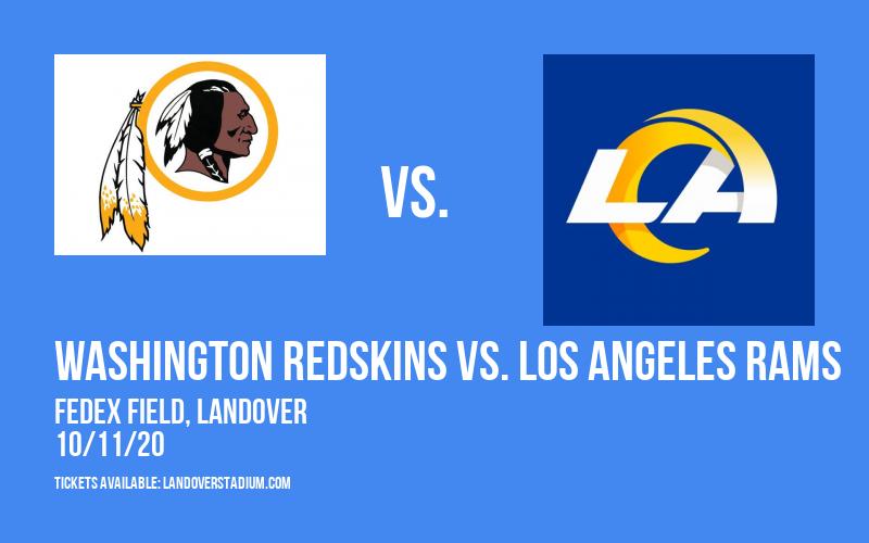 Washington Redskins vs. Los Angeles Rams at FedEx Field