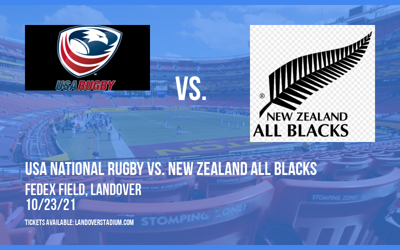 USA National Rugby vs. New Zealand All Blacks at FedEx Field